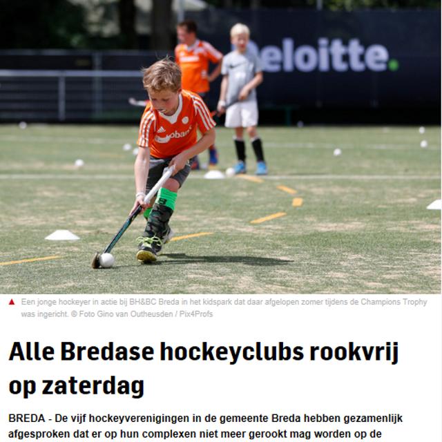 hockeyclubs rookvrij bn de stem